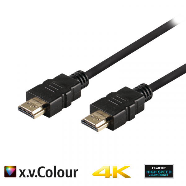 Valueline High Speed HDMI Kabel mit Ethernet HDMI Anschluss 5.00 m Schwarz
