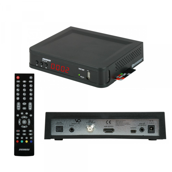 Digihome DSF 300 TNT Satelliten-Receiver HD USB PVR + Karte TNTSAT PC6