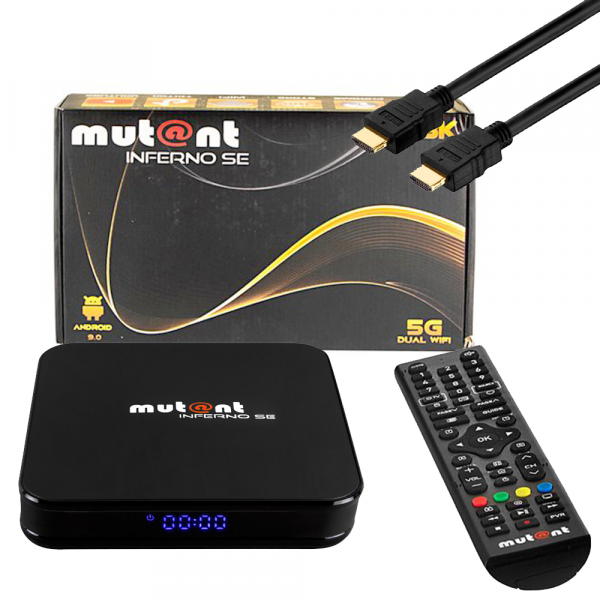 Mutant INFERNO SE 8K 30FPS 4K 60FPS Android 9.0 Dual Wifi IPTV Receiver